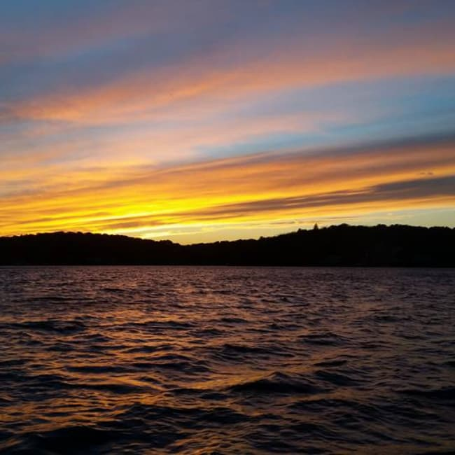 Lake Hopatcong at sunset